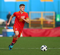 16th November 2019; Leckwith Stadium, Cardiff, Glamorgan, Wales; European Championship Under 19 2020 Qualifiers, Russia under 19s versus Wales under 19s; Cameron Evans of Wales Under 19 - Editorial Use