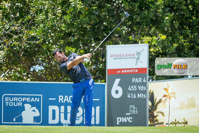 Lee Slattery (ENG) during the 2nd round of the AfrAsia Bank Mauritius Open, Four Seasons Golf Club Mauritius at Anahita, Beau Champ, Mauritius. 30/11/2018<br /> Picture: Golffile | Mark Sampson<br /> <br /> <br /> All photo usage must carry mandatory copyright credit (&copy; Golffile | Mark Sampson)