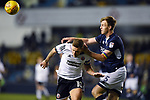 Billy Sharp of Sheffield United is challenged by Tony Craig of Millwall during the championship match at The Den Stadium, Millwall. Picture date 2nd December 2017. Picture credit should read: Robin Parker/Sportimage