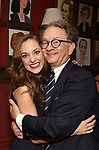 Laura Osnes and William Ivey Long attend the William Ivey Long Sardi's portrait unveiling and 70th Birthday Party at Sardi's Restaurant on August 30, 2017 in New York City.