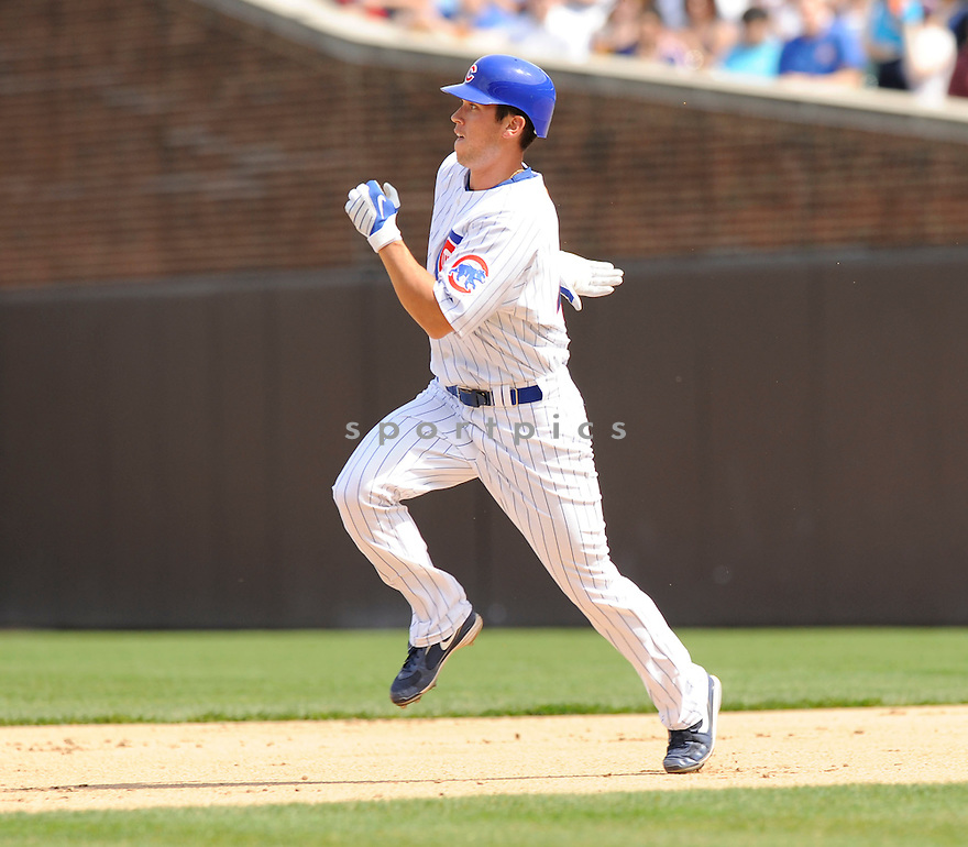 TYLER COLVIN, of the Chicago Cubs, in action during the Cubs game against the Milwaukee Brewers at Wrigley Field in Chicago, Illinois  on April 15, 2010...The Brewer win 8-6