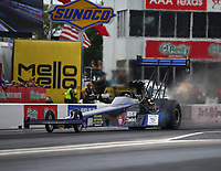 Apr 21, 2018; Baytown, TX, USA; NHRA top fuel driver Terry Haddock during qualifying for the Springnationals at Royal Purple Raceway. Mandatory Credit: Mark J. Rebilas-USA TODAY Sports