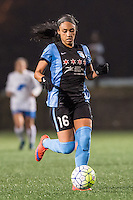Allston, MA - Saturday, May 07, 2016: Chicago Red Stars defender Samantha Johnson (16) during a regular season National Women's Soccer League (NWSL) match at Jordan Field.