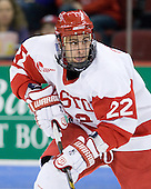 Ross Gaudet (BU - 22) scored the opening goal of the game, but left the game injured and watched the third period from the stands. - The Boston University Terriers defeated the visiting University of Toronto Varsity Blues 9-3 on Saturday, October 2, 2010, at Agganis Arena in Boston, MA.