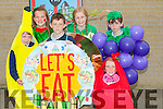 FRUITY: Pupils of Ardfert NS who took part in the Healthy Eating on Fruity Friday at the school, Luke Donovan,Avril Barrett,Liam Meade,Fiona Sheehan,Timmy McElligott and Casey Ryle.