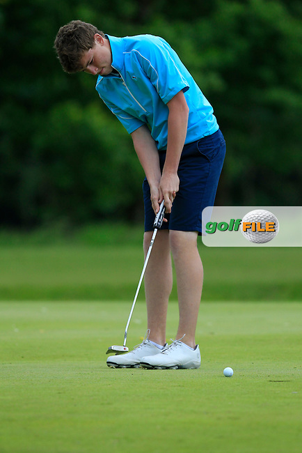 Marc McKinstry (Cairndhu) on the 1st green during Round 3 of the Irish Boys Amateur Open Championship at Tuam Golf Club on Thursday 25th June 2015.<br /> Picture:  Thos Caffrey / www.golffile.ie