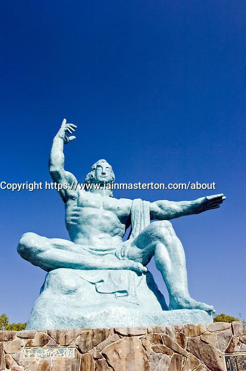 Statue at Nagasaki Peace Park in Kyushu Japan