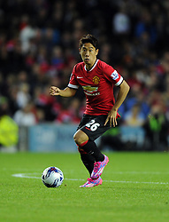 Manchester United's Shinji Kagawa - Photo mandatory by-line: Joe Meredith/JMP - Mobile: 07966 386802 26/08/2014 - SPORT - FOOTBALL - Milton Keynes - Stadium MK - Milton Keynes Dons v Manchester United - Capital One Cup