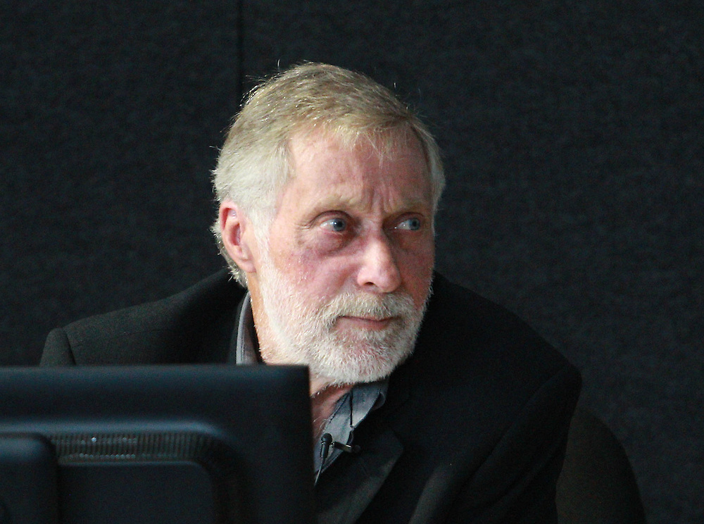 Noel Hanham, TH Consultants, structural engineer gives evidence at the hearing on 595 and 595A Colombo Street at the Canterbury Earthquakes Royal Commission, New Zealand, Thursday, February 02, 2012. Credit:SNPA / The Press, Stacey Squires **POOL**