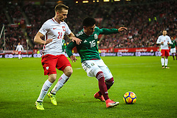 November 13, 2017 - Gdansk, Poland - Tomasz Kedziora (POL), Jesus Gallardo (MEX)  during the International Friendly match between Poland and Mexico at Energa Stadium in Gdansk, Poland on November 13, 2017. (Credit Image: © Foto Olimpik/NurPhoto via ZUMA Press)