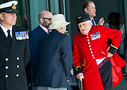 Before the ceremony started <br /> <br /> <br /> Armed Forces Day - City Hall ceremony pays tribute to British Armed Forces, London, Great Britain 25th June 2018 <br />  <br /> The Mayor of London and the London Assembly joined members of the British Armed Forces at City Hall today for a flag-raising ceremony to honour the courage and commitment of the Armed Forces community.<br /> The annual ceremony took place ahead of National Armed Forces Day, next Saturday, and was attended by members of the Forces as well as veterans, reserves, cadets and representatives from military charities. It is the 10th Armed Forces Day ceremony organised by the Mayor and London Assembly.<br /> <br /> The Mayor, Sadiq Khan and Chair of the London Assembly, Tony Arbour AM, joined senior military figures for the ceremony, which featured musical contributions from the Band of the Royal Yeomanry.<br />  <br /> Naval Commodore David Elford OBE, Army Colonel Victor Matthews OBE and Air Commodore David Prowse OBE from the Royal Air Force offered a joint military response.<br /> The Armed Forces flag was raised by Cadet Cpl Aaron Harmsworth and Cadet Charlotte McCarthy.<br /> <br /> Photograph by Elliott Franks