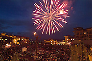 Fourth of July fireworks at The Canyons, Park City, Utah, USA