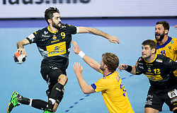 Raul Entrerrios of Spain vs Viktor Ostlund of Sweden during handball match between National teams of Spain and Sweden on Day 6 in Preliminary Round of Men's EHF EURO 2016, on January 20, 2016 in Centennial Hall, Wroclaw, Poland. Photo by Vid Ponikvar / Sportida