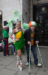 © Licensed to London News Pictures. 18/03/2012. London, England. London celebrates St. Patrick's Day with a parade and festival. Photo credit: Bettina Strenske/LNP