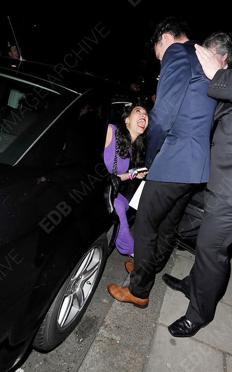 03.MARCH.2011. LONDON<br /> <br /> MYLEENE KLASS LEAVING THE GLAMOUR MAGAZINE 10TH ANNIVERSARY DINNER AT CLARIDGES HOTEL BALLROOM IN LONDON<br /> <br /> BYLINE: EDBIMAGEARCHIVE.COM<br /> <br /> *THIS IMAGE IS STRICTLY FOR UK NEWSPAPERS AND MAGAZINES ONLY*<br /> *FOR WORLD WIDE SALES AND WEB USE PLEASE CONTACT EDBIMAGEARCHIVE - 0208 954 5968*