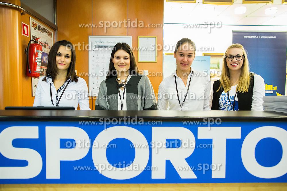 Hostesses during Sports marketing and sponsorship conference Sporto 2015, on November 19, 2015 in Hotel Slovenija, Congress centre, Portoroz / Portorose, Slovenia. Photo by Vid Ponikvar / Sportida