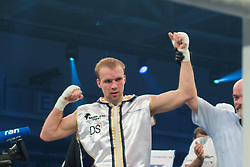 12.03.2016, Jahnsportforum, Neubrandenburg, GER, Boxgala, WBA Weltmeisterschaftskampf, im Bild v.l. Stefan Haertel (Germany) vs Tobias Webb (Germany), Super Middleweight, Stefan Haertel gewinnt nach Punkten // during the WBA Light Heavyweight World Championship Boxgala at the Jahnsportforum in Neubrandenburg, Germany on 2016/03/12. EXPA Pictures © 2016, PhotoCredit: EXPA/ Eibner-Pressefoto/ Koch<br /> <br /> *****ATTENTION - OUT of GER*****