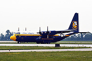 Blue Angels Fat Albert Marine Corps C-130 Hercules transport plane.
