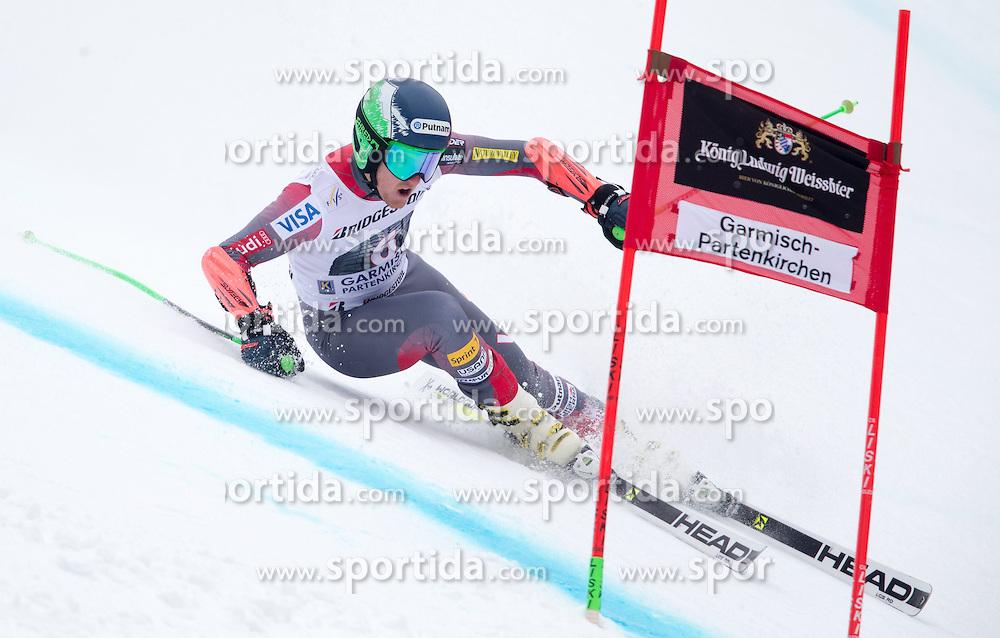 01.03.2015, Kandahar, Garmisch Partenkirchen, GER, FIS Weltcup Ski Alpin, Riesenslalom, Herren, 1. Lauf, im Bild Ted Ligety (USA) // Ted Ligety of the USA in action during 1st run for the men's Giant Slalom of the FIS Ski Alpine World Cup at the Kandahar course, Garmisch Partenkirchen, Germany on 2015/03/01. EXPA Pictures © 2015, PhotoCredit: EXPA/ Johann Groder
