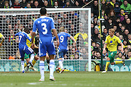 Picture by Paul Chesterton/Focus Images Ltd.  07904 640267.21/01/12.Fernando Torres of Chelsea has a golden opportunity to score but puts his shot wide during the Barclays Premier League match at Carrow Road Stadium, Norwich.