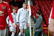 Leeds United Jack Jenkins (8) walks out during the FA Youth Cup match between U18 Manchester United and U18 Leeds United at Old Trafford, Manchester, England on 5 February 2020.
