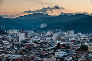 "Sunset. The city of Takayama (""tall mountain"") lies in the heart of the Japan Alps, in the Hida region of Gifu Prefecture. Commonly differentiated as Hida-Takayama, city has the largest geographic area of any municipality in Japan."