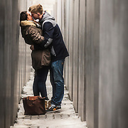 A couple kissing in Berlin