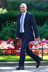 © Licensed to London News Pictures. 19/07/2016. London, UK. Local Governments Secretary SAJID JAVID attending the first cabinet meeting under Theresa May's leadership in Downing Street on Tuesday, 19 July 2016. Photo credit: Tolga Akmen/LNP
