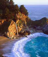 When I photograph popular tourist attractions like the Big Sur waterfall, My images have to be perfect with the highest resolution so I used my 4x5 view camera for this photo.  McWay Falls is the real name for this amazing setting in Julia Pfeiffer Burns State Park.