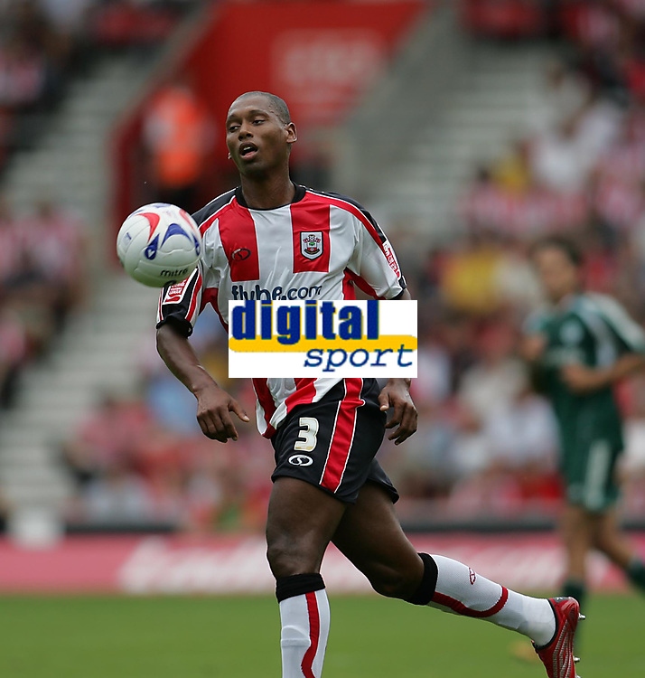 Photo: Lee Earle.<br /> Southampton v Panathinaikos. Pre Season Friendly. 29/07/2006. Southampton's recent signing Pele.