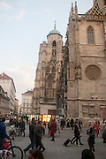 The Stephansdom (St. Stephen's Cathedral) at Stephansplatz, Vienna, Austria
