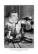 Actor Milo O'Shea gets in a few last pints while contemplating the dreaded abstinence that was to come as part of the New Year's Resolutions<br />