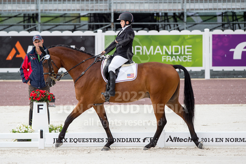 Sydney Collier, (USA), Willi Wesley - Individual Test Grade Ib Para Dressage - Alltech FEI World Equestrian Games&trade; 2014 - Normandy, France.<br /> &copy; Hippo Foto Team - Jon Stroud <br /> 25/06/14