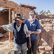 Italian doctor Pietro Gamba with his patient in Anzaldo, near Cochabamba, in the Bolivian Andes