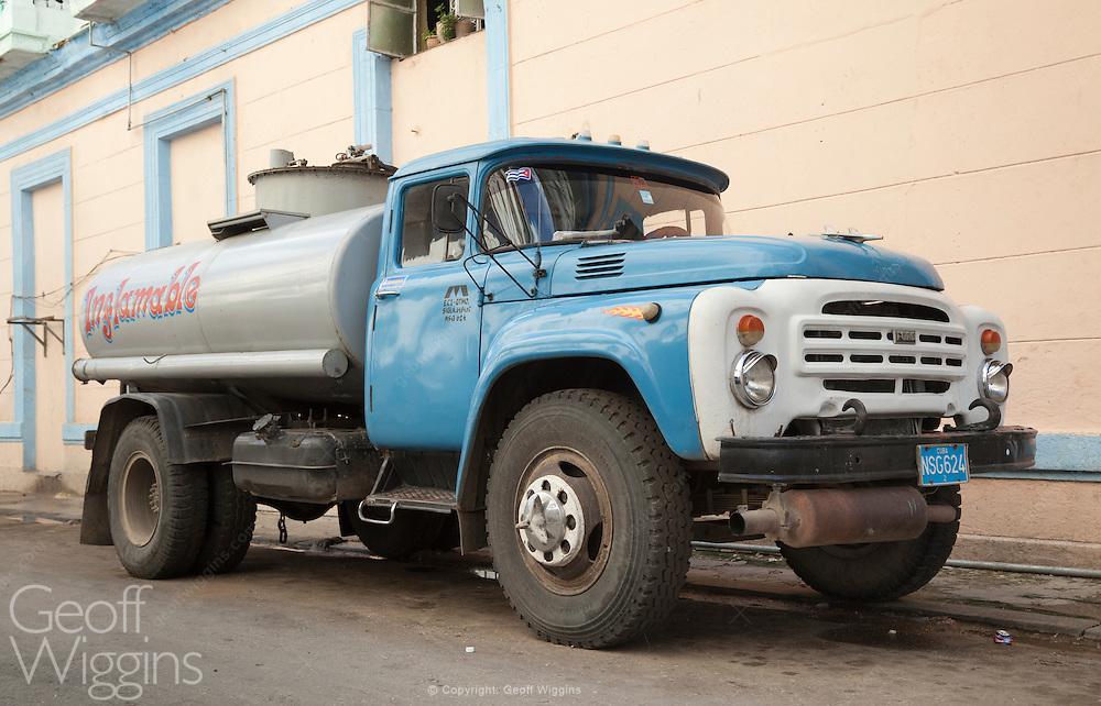 Vintage ZIL 130 tanker truck in Havana Cuba