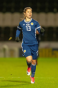 Jane Ross (#13) (West Ham United) of Scotland during the Women's International Friendly match between Scotland Women and USA at the Simple Digital Arena, Paisley, Scotland on 13 November 2018.