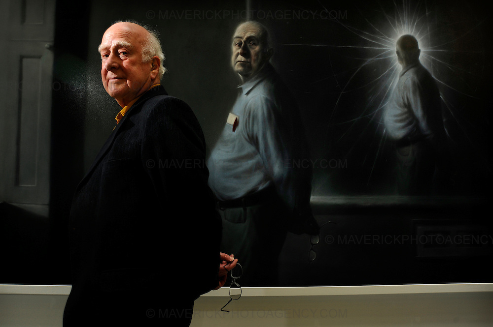 EDINBURGH, UK: An evocative painting of the physicist Peter Higgs by leading artist Ken Currie has gone on display at the University of Edinburgh.  The Professors theory has dominated theoretical physics for 40 years and soon experiments at the giant CERN particle accelerator in Geneva may verify the existence of the Higgs boson particle and verify Professor Higgs' theory of how elementary particles have mass.  The existence of the Higgs boson was proved by results from the Large Hadron Collider at CERN and lead to Professor Higgs being awarded a Nobel Prize for physics.  The portrait is being displayed in the University's recently-opened Informatics Forum..