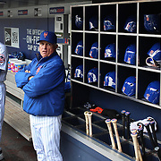 NEW YORK, NEW YORK - MAY 04:  Bench coach Dick Scott #23, (left) and Manager Terry Collins of the New York Mets in the dugout during the Atlanta Braves Vs New York Mets MLB regular season game at Citi Field on May 04, 2016 in New York City. (Photo by Tim Clayton/Corbis via Getty Images)