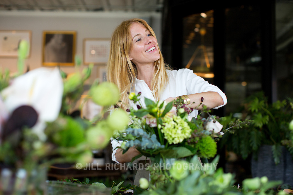 Teresa Wilson, owner of Camelback Flowershop located at 4108 E Indian School Rd, Phoenix, AZ 85018. Camelback Flowershop offers floral bouquets and succulent arrangements, but also Phoenix-made soaps, candles, original artwork by local artists, goat's milk caramels and more.