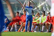 21.09.2017; Niederhasli; FUSSBALL U16 - Schweiz - Italien;<br /> Trainer Mauro Lustrinelli (SUI) <br /> (Andy Mueller/freshfocus)