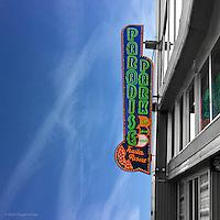 Vintage neon street sign