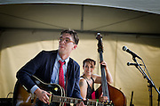 Justin Townes Earle & Bryn Davis performing at the 2011 Southern Shore Music Festival in Millville,NJ