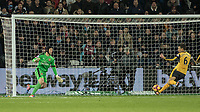 Football - 2016 / 2017 Premier League - West Ham United vs. Arsenal <br /> <br /> Laurent Koscielny of Arsenal comes to the rescue of Petr Cech of Arsenal and clears off the line  at The London Stadium.<br /> <br /> COLORSPORT/DANIEL BEARHAM