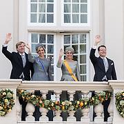 NLD/Den Haag/20170919 - Prinsjesdag 2017, Koningin Willem Alexander en Konigin Maxima met Prinses Laurentien en Prins Constantijn