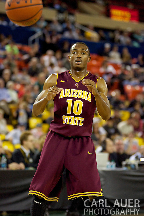 November 26th, 2010:  Anchorage, Alaska - Arizona State's Jamelle McMillan (10) during the Sun Devil's 59-58 victory over Weber State at the Great Alaska Shootout.  McMillan is the son of former Seattle Super Sonic and current Portland Trailblazer coach, Nate McMillan.