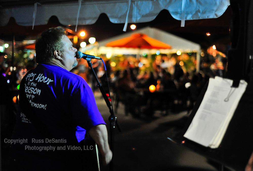 Paul Cilinski performs at the newly opened 9th Ave Pier in Belmar.//  7/25 /12 - Russ DeSantis/Special to The Record