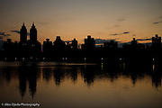 Central Park at sunset, New York
