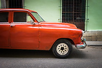 HAVANA, CUBA - CIRCA MAY 2016: Old American classic car in the streets of  Havana, Cuba.
