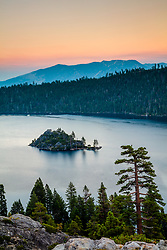"""Emerald Bay Sunset 3"" - Photograph of Emerald Bay, Lake Tahoe at sunset."