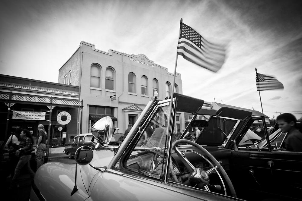 Veteran's Day car show and parade, Bastrop, Texas.